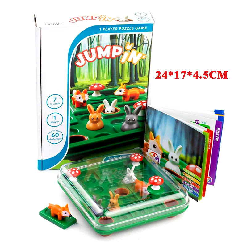 Game Bunny Bouncing Kids Puzzle Board Game Checkers Toy Fun Brain-moving Toys For Children Toys Suitable Over 7 Years Old