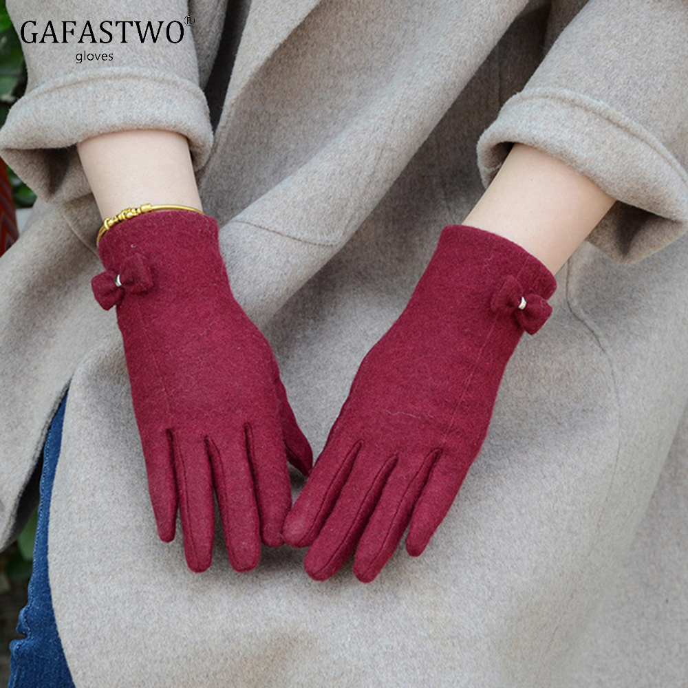 Winter Warm Fashion Cashmere Touch Screen Women Gloves New Korean And Windproof Finger Gloves
