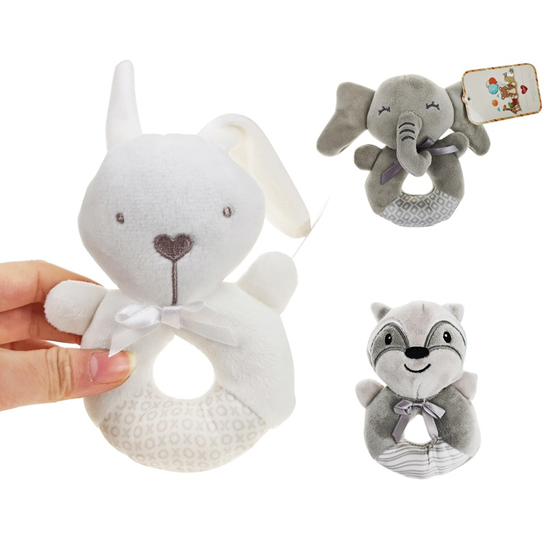 Baby Cartoon Plush Toy Newborn Toothpaste Pendant Children Gift Cartoon Plush Pendant Car Hanging Bell Chime Paper With Music