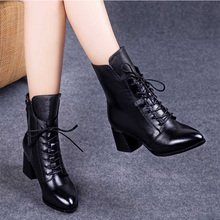2019 new women shoes Keep warm high heels zapatos mujer fashion sexy snow boots