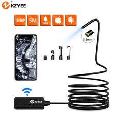 KZYEE WIFI endoskop kamera inspekcyjna boroskop bezprzewodowy kamera endoskopowa sztywny kabel WIFI endoskop dla androida/IOS SmartPhone