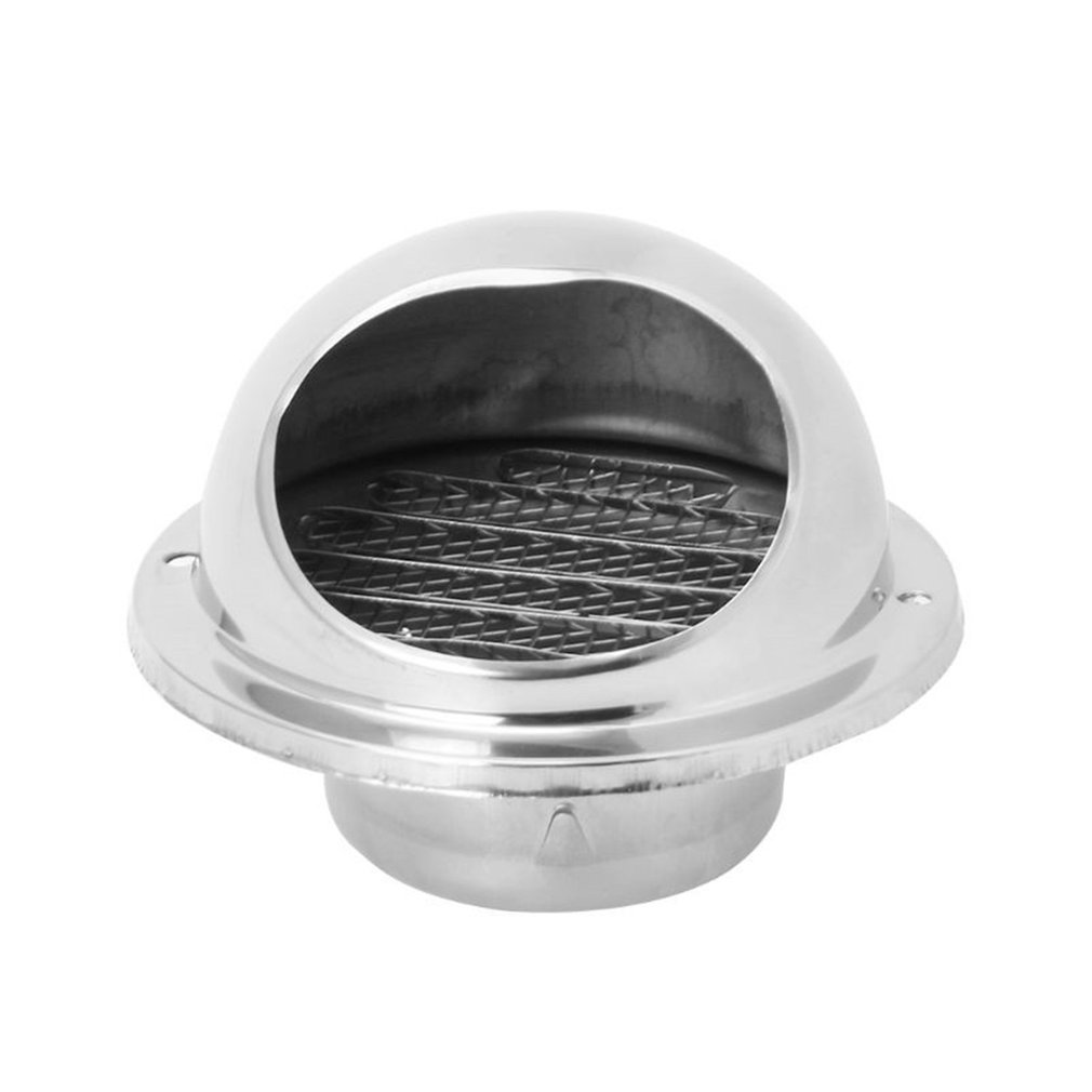 Wall Air Vent Grille Ducting Ventilation Extractor Outlet Louvres Hemisphere 304 Stainless Steel Air Vent Cover Hood Outlet