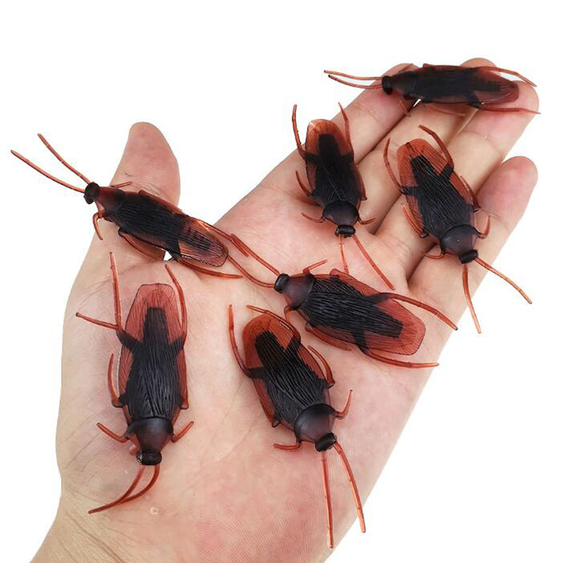 10 50Pcs Prank Fake Cockroach Ants Flies Fly Centipede Scorpion Insects Model Gag Gift Mini Toys Lot Novelty For Kids Children
