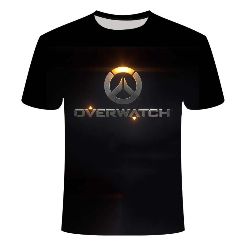 2021Overwatch Game Logo Gamer Gaming Tshirt 3D Over Short-Sleeve T Shirts Gaming Top Blizzard Overwatch Video Game Characters 1
