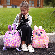 New 2019 Bunny Backpack For Girls Heart Fur School Book Bag Embroidery Women Mini Backpacks Cute Schoolbag Kids gift цена 2017