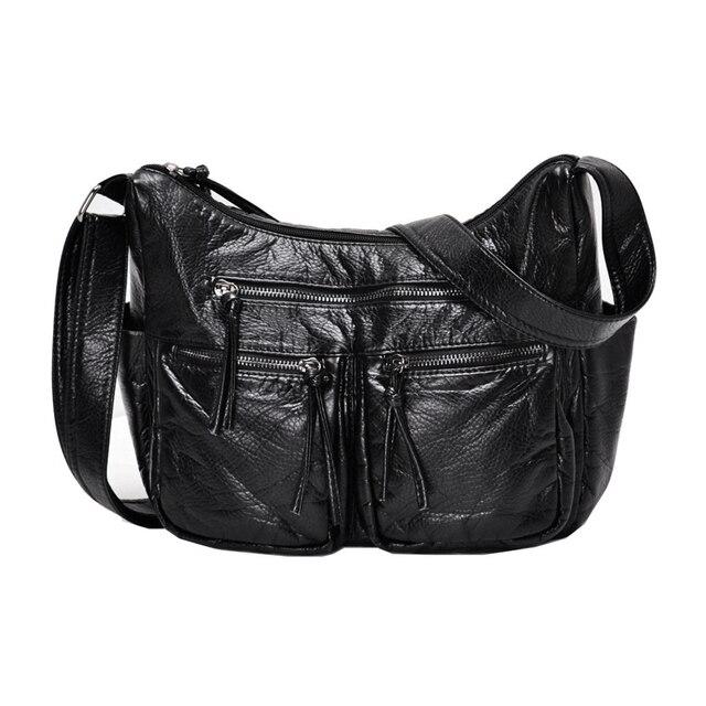 Burlie sacs à Main en cuir PU souple pour femmes, sacoches de bonne qualité pour dames, Sac à épaule de luxe lavé, nouvelle collection