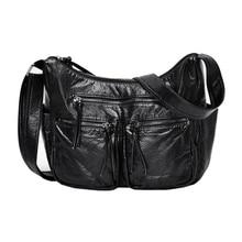 Nova burlie mulheres mensageiro sacos de alta qualidade corpo cruz sacos de luxo macio lavado couro do plutônio bolsas ombro feminino sac a principal