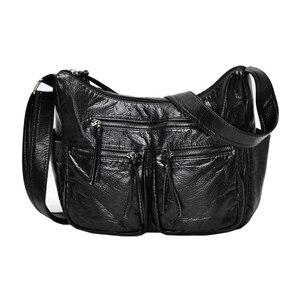 Image 1 - Nowe torebki damskie burlie wysokiej jakości torebki crossbody luksusowe miękkie myte PU skórzane torebki damskie torebki na ramię Sac A Main
