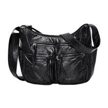 Yeni burlie kadın postacı çantası yüksek kaliteli çapraz vücut lüks çanta yumuşak yıkanmış PU deri kadın omuz çantası ana kesesi