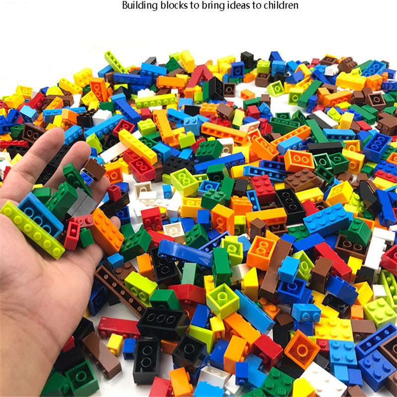 Lepining <font><b>1000</b></font> <font><b>Pcs</b></font> Building Bricks Blocks DIY City Creative Bricks Bulk Model Figures Educational Blocks Toys for Kids gifts image