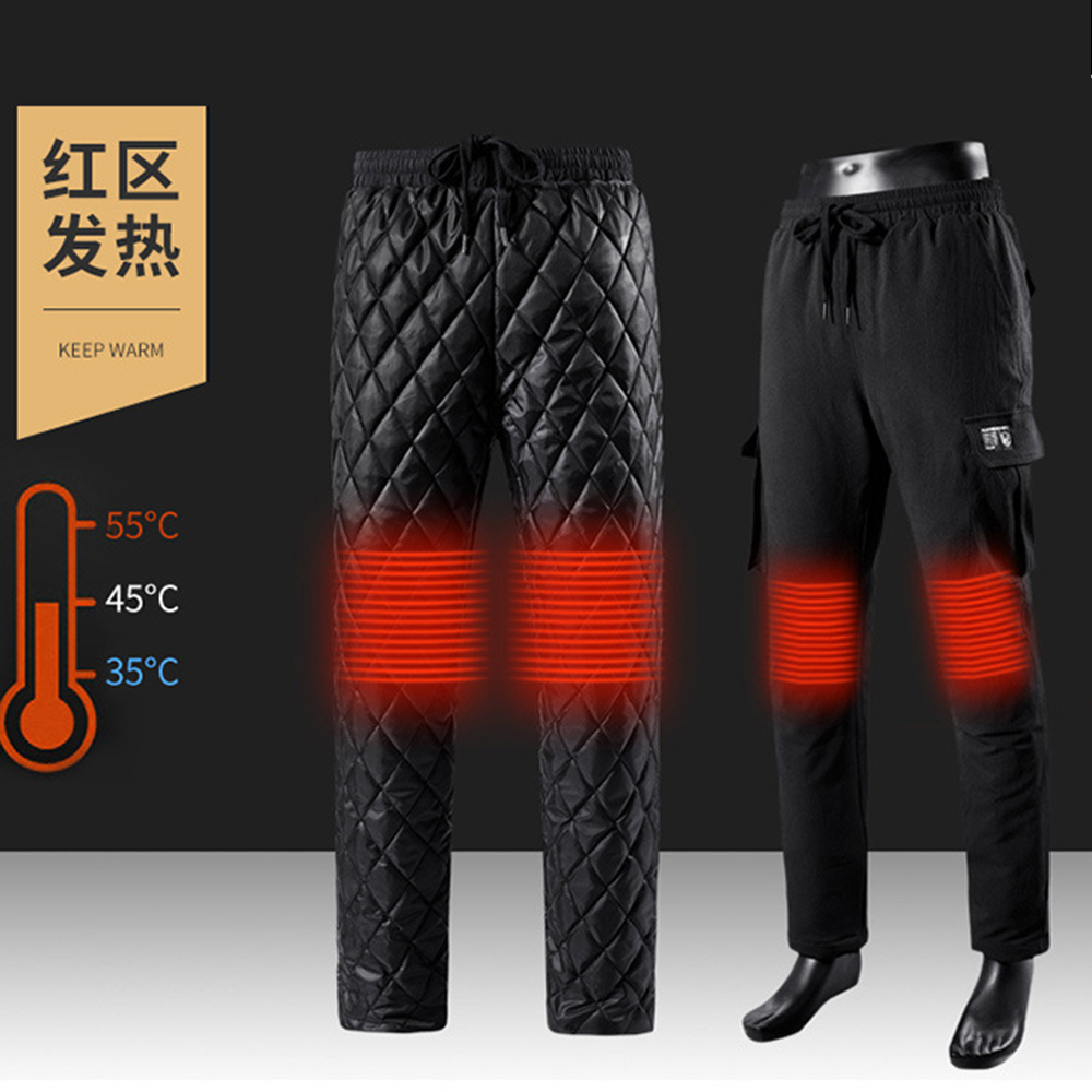 Motorcycle Pants Thicken Electric Heating Heated Pants USB Charging Infrared Winter Outdoor Thermal Warm Riding Pants#