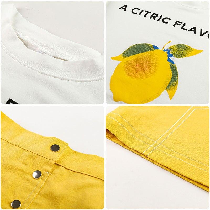 2021 Summer kids Girl Lemon T-shirt +skirt set  2 pcs D11.04 2