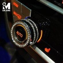Cubierta decorativa para perilla de aire acondicionado de coche, accesorio para BMW F30 F34 F36 G30 M3 M4 X1 F48 X3 G01 X4 G02 X5 F15 X6 F16, 3 uds.