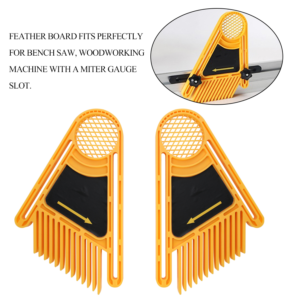 2pcs Reverse Engraving Machine Feather Loc Boards Parts Set DIY Wood Working Tools Double Featherboards Miter Gauge Slot in Hand Tool Sets from Tools