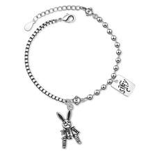 Pulsera de perlas de imitación de estrella de luna de ANENJERY pulsera de plata de ley 925 con gradiente de zirconia de piedra lunar para mujer S-B304