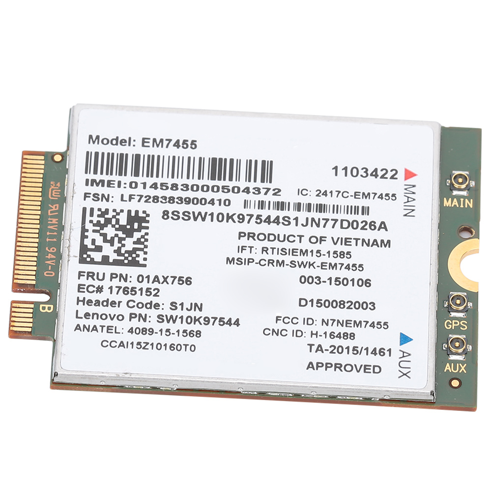 Tablet and Ultrabook etc For ThinkPad T460 T460p T460s Wireless Network Card 4G LTE Module 300 Mbps NGFF//M2 Card for Notebook EM7455 Network Card