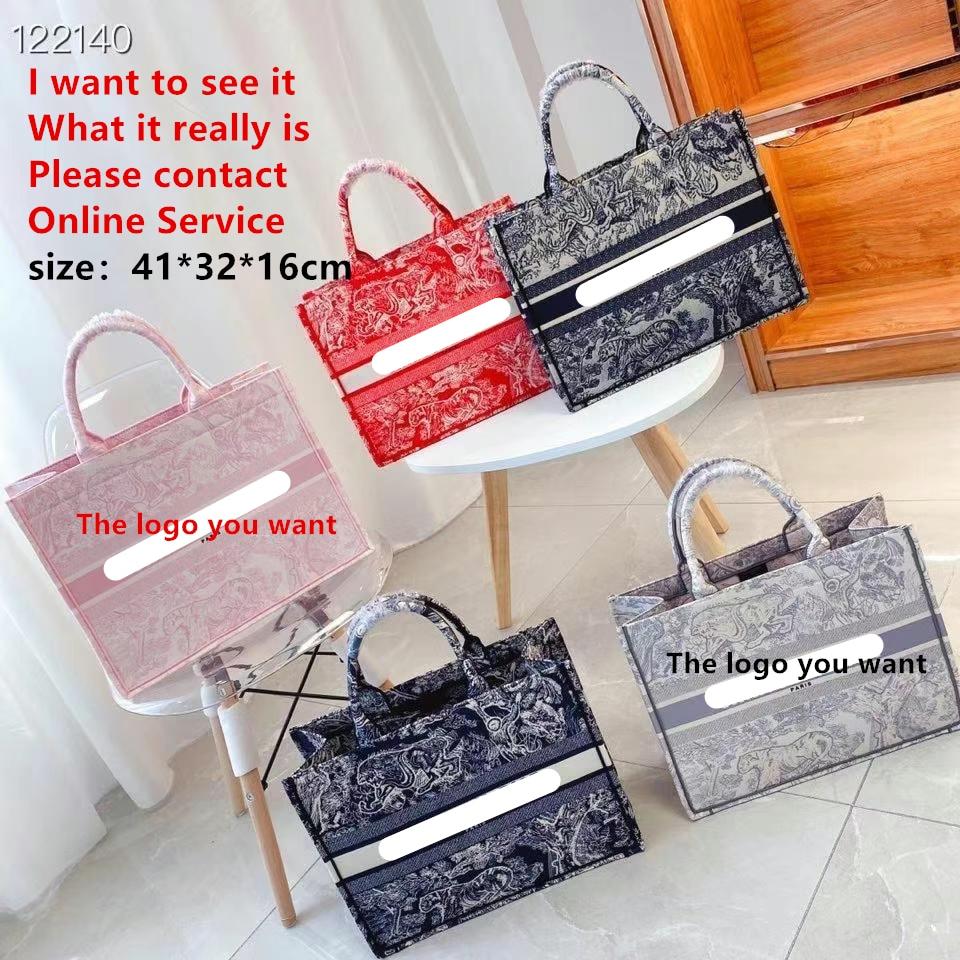 Luxury New Handbags Printed Color Matching Phopping Bag Women's Bag Fashion Tote Handbags Large Capacity One-Shoulder