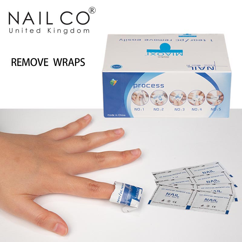 NAILCO 200 Piece Soak off Gel Polish Remove Bag New Winter Manicure Art Degreasing Solution Herramifications To Eliminate Nodes