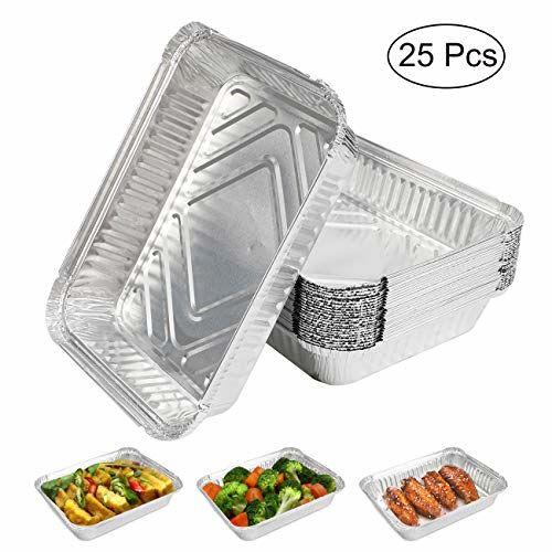 Expower Lot De 25 Plateaux En Aluminium, Parfaits Pour Le Camping Et L'utilisation En Extérieur, Grillage, Cuisine, Pâtisserie