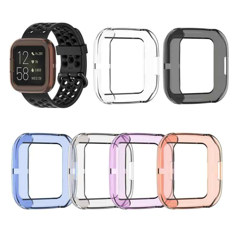 Soft Tpu Case Voor Fitbit Versa 2 Band Waterdicht Horloge Shell Cover Screen Protector Screen Protector Cover Voor Fitbit Versa 2