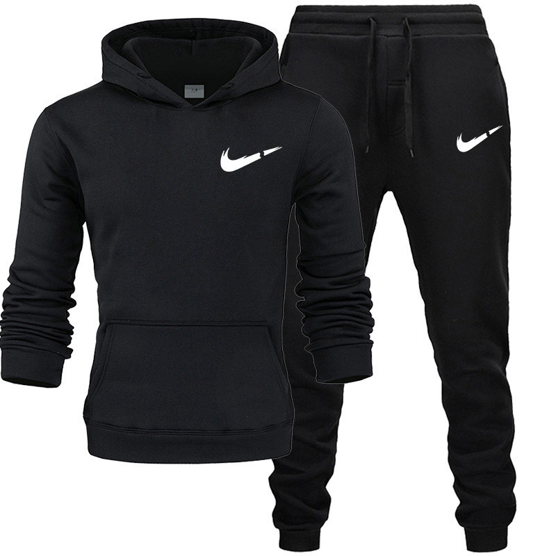 Men's Fashion Tracksuit Casual Sportsuit Men Hoodies/Sweatshirts+Sweatpants Fashion Pattern Print Jogger Suit Men Set