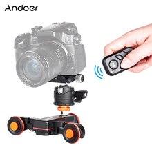 Deslizador de cámara Andoer L4 Pro para teléfono, deslizador de vídeo Dolly, deslizadores de pista eléctricos, Control remoto para cámara Canon Nikon Sony DSLR