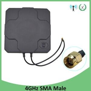 Image 5 - 4 4g lteアンテナn男性女性sma屋外パネル 18dbi 698 2690 ホワイトブラック空中mimo外部antenne無線ルータ