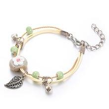 Горячая Распродажа керамический браслет вязаный для девушек