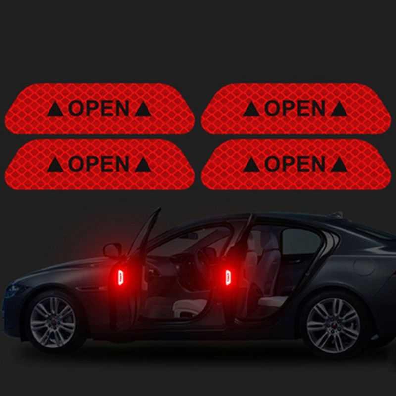 Autocollant de marque d'avertissement de bande réfléchissante ouverte de voiture pour Chrysler Aspen Pacifica PT Cruiser Sebring ville pays