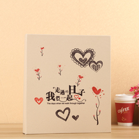 High quality 2 7 inch1050 pocket PU leather album vintage engraving manual insert scrapbook large capacity collection albums