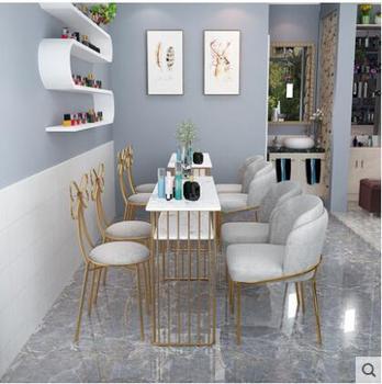 Stół do Manicure internetowi celebryci marmurowy stół do manicure stół i krzesła dwuosobowy pojedynczy stół do manicure stół do malowania paznokci zestaw kombinacji tanie i dobre opinie CN (pochodzenie) Salon mebli Stół paznokci Meble sklepowe