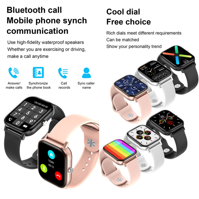 2020 HD 1.75 Inch Smartwatch Men full touch Multi-Sport Mode VS P8 Smart Watch Women Heart Rate Monitor For iOS Android 6