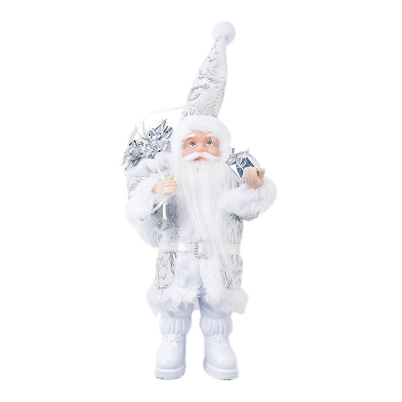 Christmas Standing Santa Claus Doll Figurine Collection Table Decoration Ornament Holiday Gift Christmas Toy