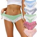 Комплект женского нижнего белья из хлопка 5 шт./компл., комфортные трусы, сексуальные кружевные женские трусы для женщин, сексуальные женски...
