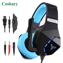 Cosbary 3.5mm Plug Wired Back-light Gaming Headphone Surround Stereo Game Headset with Microphone for PC Gamer Laptop Computer warm spring autumn winter maternity pants casual loose straight pant pregnancy clothes women trousers long pregnant pants c451