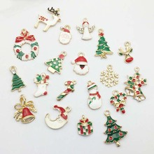 19pcs Creative Christmas Pendant Ornaments DIY Metal Crafts Xmas Tree Party Decorations For Home Kids Wedding Gift