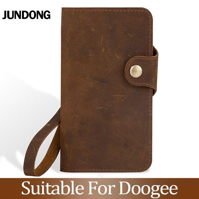 Pour Doogee X3 X9 X20 X10 X30 X50 X5 Max Mix 2 BL5000 BL7000 BL12000 Pro etui portefeuille en peau de vache couverture de téléphone en peau de cheval fou