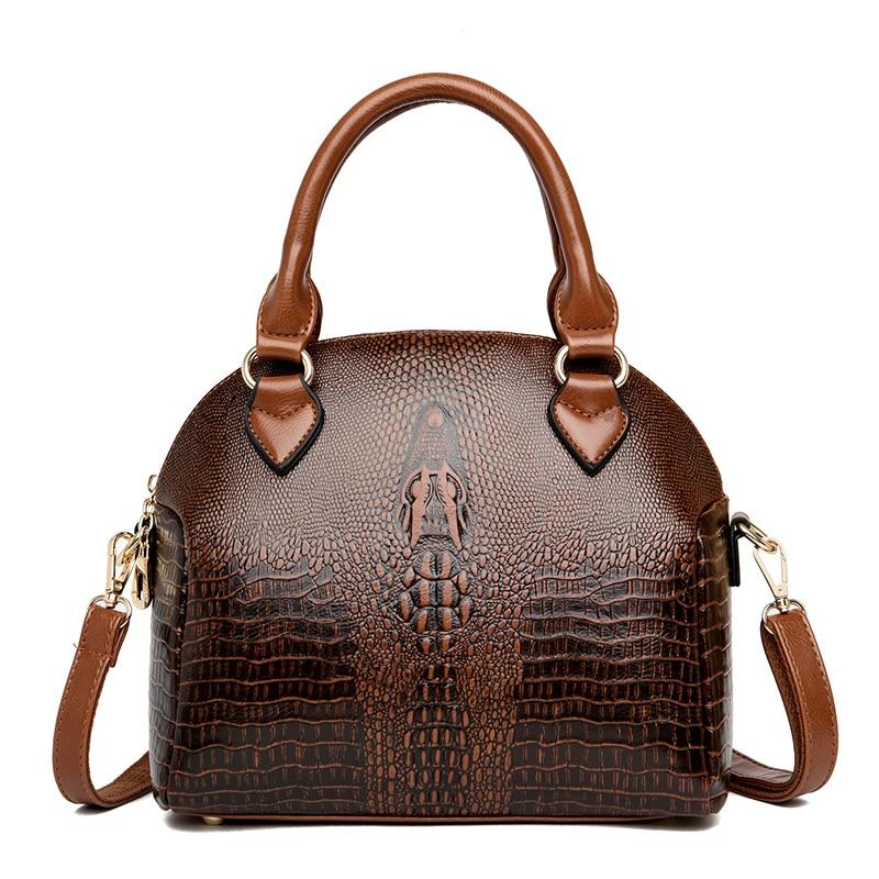 2020 New Vintage Crocodile Pattern Luxury Handbags Women Bags Designer Shoulder Purses And Handbags Crossbody Bags For Women