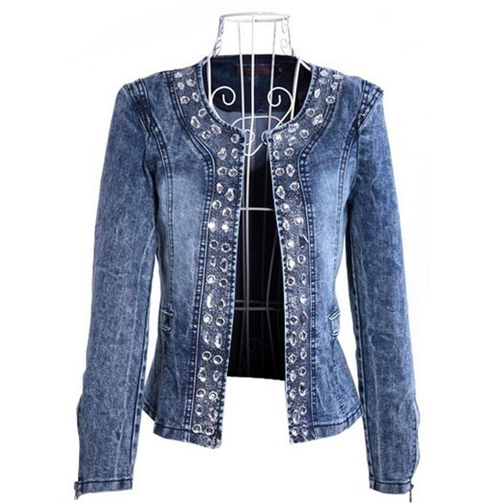 H81a798117d1647509afed71dbfd52904N JAYCOSIN Women's Coat New Fashion 2019 Denim Coat Ladies Casual Jacket Outwear Jeans Overcoat female Turn-down Collar jackets
