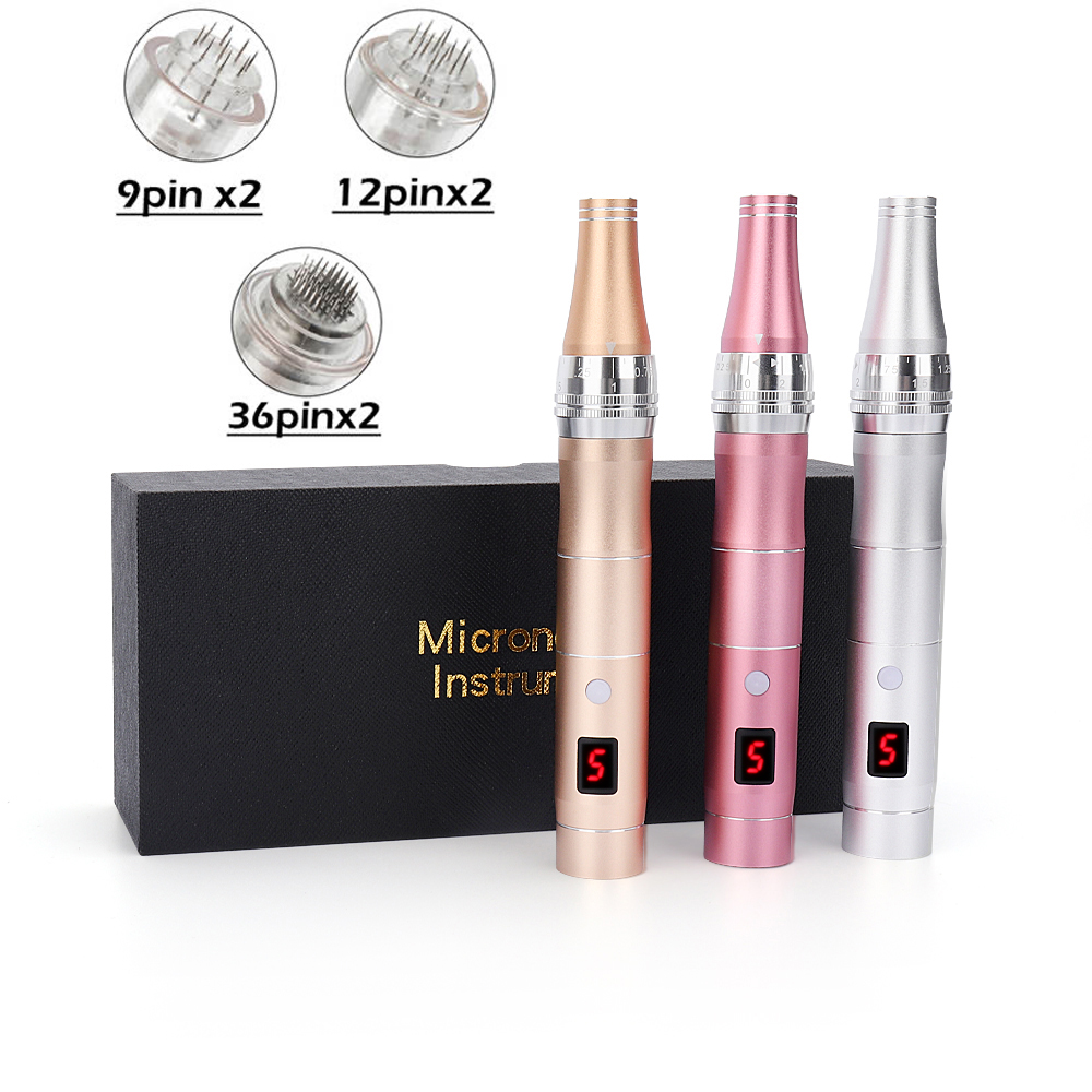 New Electric Micro Tiny Needles Derma Pen Professional Wireless Microblading Dr Pen Tattoo Gun Tools Pen With 6pcs Needles