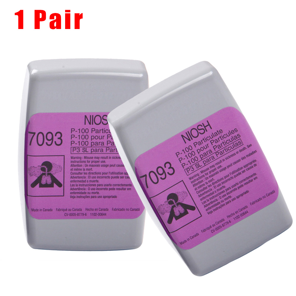 1 Pair Of Filters 7093cn Anti-Particulate Filter Case Anti-Dust Welding Smoke Glass Fiber High Quality