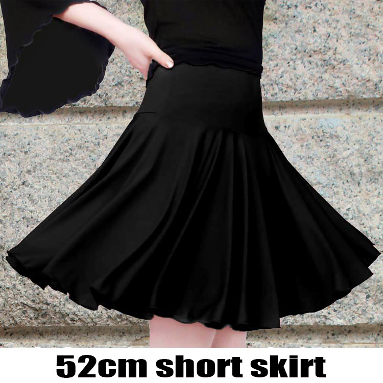 New Womens Latin Dance Skirt Professional Adult Dance Short Skirts Sexy Square Dancing Costume Tango Samba Rumba Salsa Dress