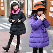 child wadded jacket kids outerwear cotton-padded thicken children clothing autumn winter jackets for girls 6 10  12 years coat стоимость