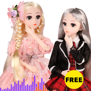(BUY 1 GET 1 FREE) BJD Doll,1/4 SD Dolls 18 Ball Jointed Dolls with Clothes Outfit Shoes Wig Hair Makeup Best Gift for Girls(China)
