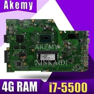 X751LD laptop płyta główna ASUS R752L R752LN X751L X751LD X751LDV X751LN K751LN oryginalne płyty głównej płyta główna i7-5500 GT820M/gT840M