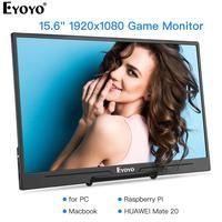 "pc עם Eyoyo EM15H Portable Gaming צג 15.6"" עם HDR USB-C HDMI 1080P תצוגת המסך השני עבור PS3 נייד PC Xbox / 4 החלף WiiU (1)"