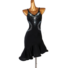 Standard Latin Dance Skirt 2019 Ladys Sexy Black Rumba Dancing Dress Cheap Samba