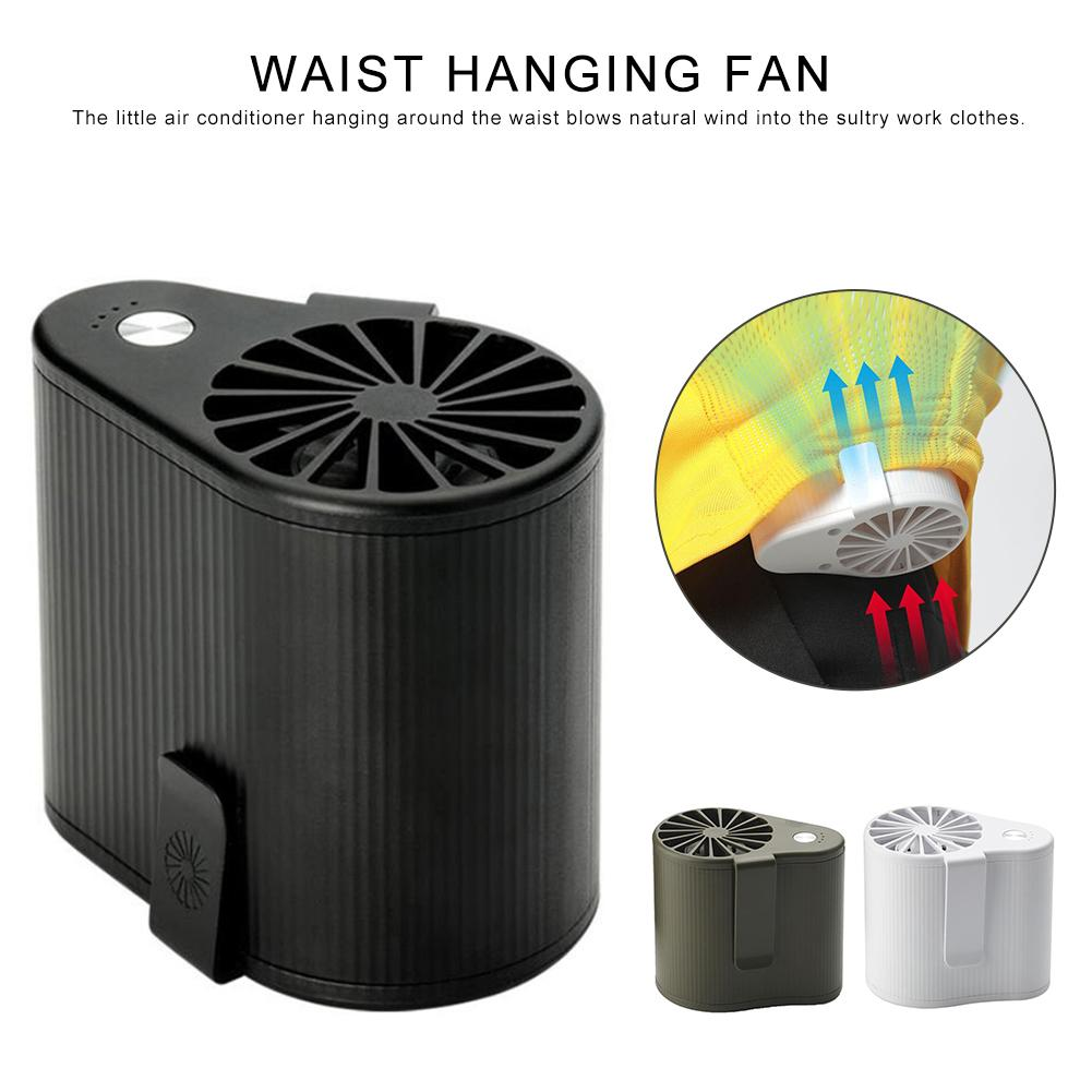 Portable Mini Mobile Air Conditioning Small Fan Usb Rechargeable Hanging Waist Fan For Travel And Outdoor Camping