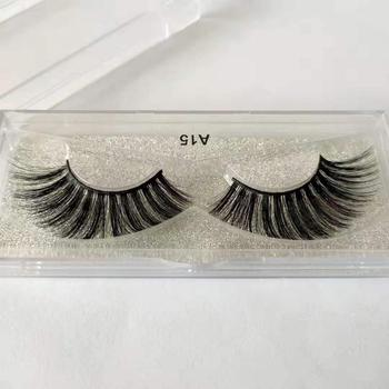 1 Pairs 3D Handmade Fake Eyelashes Natural Long Thick Daily Makeup Thick Cross Eyelashes Eye Lashes image
