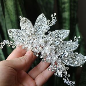 Image 2 - Crystal Wedding Hair Clip Hair Accessories Jewelry Ladies Hair  Accessoire Cheveux Bridal Tiaras Bijoux Hair Stick  for Women